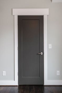 Image result for contemporary grey painted shaker style  internal doors