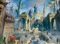 Dragon's Maze Simic Guildgate artwork - Art by Svetlin Velinov.