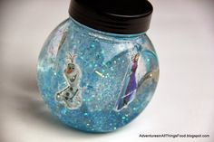 Create a FROZEN DIY snow globe - Adventures in All Things Food & Family. #FrozenFun #shop #cbias