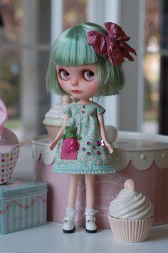 Blythe dress teddy bear in my poket by Lilleprincesse on Etsy, €25.00