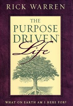 The Purpose Driven Life is a book that has changed my life so much - God's roadmap for my life.