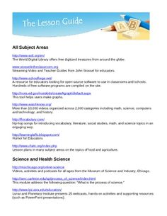 Are you looking for free, excellent, interactive web resources to plan lessons, share with your students or provide enrichment materials? We have compiled a three page list of Free Teacher and Student Internet Resources. Subjects included are All Subject Areas, Science and Health Science, Math, Art and Art History. All Links have been verified and are working as of October 16, 2011.
