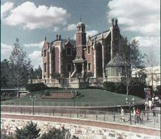 Walt Disney World Haunted Mansion when it opened, early 1970s.