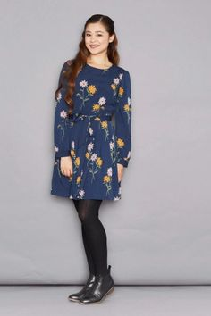 front_black Princess Highway, Daisy Dress, High Neck Dress, Style Inspiration, Winter, How To Wear, Outfits, Clothes, Navy