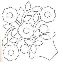 flower applique block - Google Search