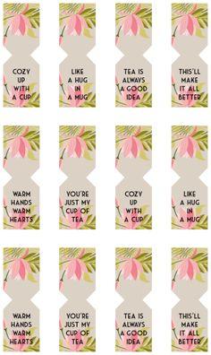 FREE Printable Tea Bags Tags by Shrimp Salad Circus