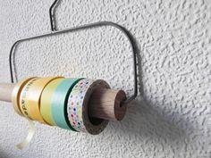 Aufbewahrungen - MASKING TAPE HALTER *Washi Tape Organizer *Bügel - ein Designerstück von madolescent bei DaWanda