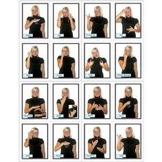 """Learning cards are a wonderful way to reinforce basic principles, lessons, and skills. The Sign Language in the Early Childhood Classroom set includes 48 cards (4.25"""" x 5.5"""" each), featuring photograp"""