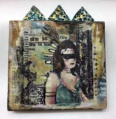 PaperArtsy & Everything Art EEA04 - encaustic wood block by Kasia Avery http://shop.everything-art.com/Rubber_Stamps/cat4497837_3642234.aspx
