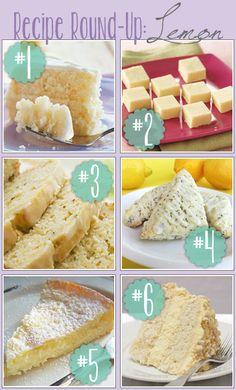 Recipe Round - Up Lemon Desserts