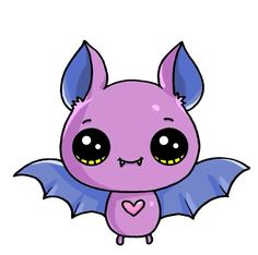 bat Halloween Happy is part of Cute kawaii drawings - Cute Easy Drawings, Easy Cartoon Drawings, Cute Animal Drawings, Disney Drawings, Easy Halloween Drawings, Kawaii Doodles, Kawaii Art, Kawaii Anime, Kawaii Halloween