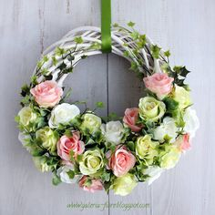 Decoration Shabby, Cardboard Crafts, Spring Time, Floral Wreath, Easter, Wreaths, Homemade, Crafting, Gardening