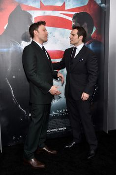 "Henry Cavill Photos - Actors Ben Affleck (L) and Henry Cavill attend the launch of Bai Superteas at the ""Batman v Superman: Dawn of Justice"" premiere on March 20, 2016 in New York City. - The Launch of Bai Superteas at the 'Batman v Superman' Premiere"