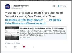 I think its working! This is evidence that hashtags are an effective way to bring attention to issues of sexual violence against women. NBC News picked up on the hashtag. Source: Twitter.