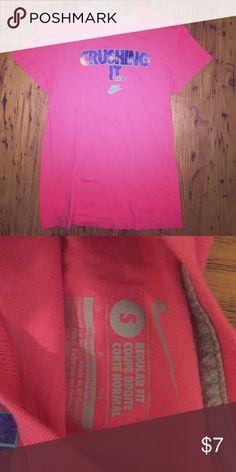 """Nike athletic tee Pink """"crushing it"""" athletic tee Nike Tops Tees - Short Sleeve"""