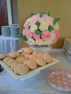 Coconut rum cupcakes, pink champagne cupcakes and lemon ricotta cookies