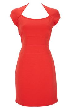 So chic. I love a structured dress!