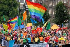 The dutch people are very open-minded and see each individual as equal. Once a year this is celebrated with a big gay parade in Amsterdam.