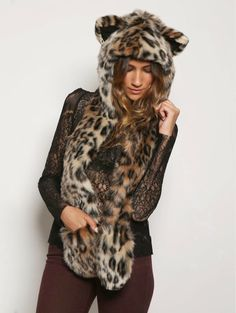 (The Original) Spirit Hoods, fake faux fur animal friendly accessories hat, cappelli copricapi pelliccia ecologica divertenti animali, fashi. Wolf Hat, Animal Hats, Hats For Sale, Shark Tank, Winter Accessories, Playing Dress Up, Faux Fur, Hoods, Fur Coat
