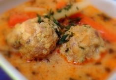 Transylvanian meatball soup with tarragon Hungarian Cuisine, Hungarian Recipes, Hungarian Food, Pasta Recipes, Cooking Recipes, Meatball Soup, Tasty, Yummy Food, Food 52