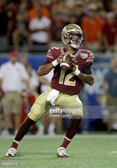 News Photo : Deondre Francois of the Florida State Seminoles...