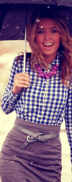 checked shirt street style