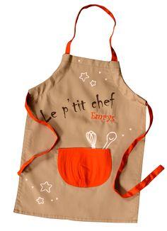 Une toque pour enfant assortie au tablier cr ations et for Patron tablier de cuisine enfant