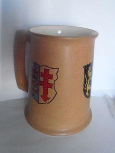 Vintage Fred Roberts San Fransico Mug, tankard, stein, Coat of Arms, Stoneware