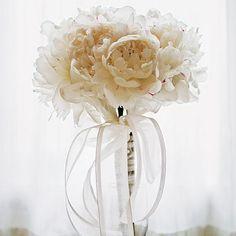 White peonias bouquet