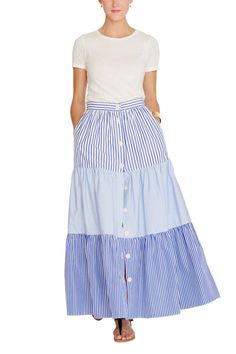 Mixed Tiered Skirt