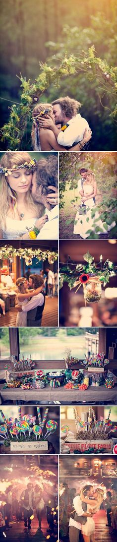 Bohemian Wedding Ideas!! Love the crown and the arch, Just what I am looking for
