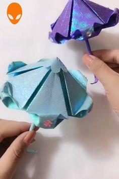 Discover more about Origami Tutorials Diy Origami, Useful Origami, Paper Crafts Origami, Diy Paper, Oragami, Diy Crafts Hacks, Diy Arts And Crafts, Fun Crafts, Origami Umbrella