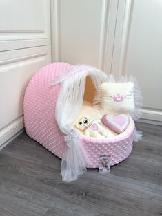 Excited to share this item from my shop: Baby pinked cream designer dog cradle Luxury dog bed with tulle curtains Customized dog bed Birthday dog cradle Personalized dog bed Puppy Cute Dog Beds, Puppy Beds, Diy Dog Bed, Dog Beds For Small Dogs, Pet Beds, Large Dogs, Dog Bedroom, Bedroom Ideas, Personalized Dog Beds