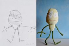 Kids Drawings Made Into Dolls