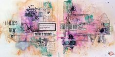 An art-journal page by Melenia