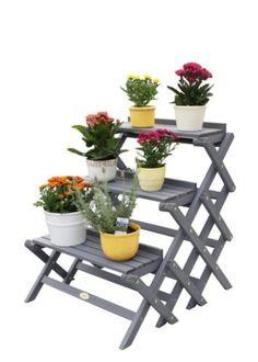 Patio-Flower-Plant-Stand-Garden-Display-Staircase-Wooden-Ladder-Pot-Outdoor-Deck