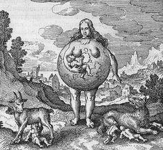 """""""Nutrix ejus terra est."""" of Michael Maier, Atalanta Fugiens, 1617/1618"""