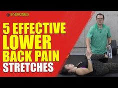 5 Effective Lower Back Pain Stretches - Exercises For Injuries Lower Back Pain Stretches, Back Stretching, Lower Back Pain Relief, Middle Back Pain, Neck And Back Pain, Low Back Pain, Pinched Sciatic Nerve, Head Pain, Chin Up