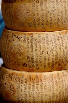 grandepassione:  luxuryinitaly:  Parmigiano-Reggianois a typical product of Made in Italy.Parmigiano-Reggiano has been guaranteed for over seventy years by the Consortium and, above all, has been loved for over nine centuries for its excellent and inimitable flavour.
