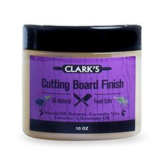 CLARK'S Cutting Board Wax (10oz) | Enriched with Lavender & Rosemary Oils |Made with Natural Beeswax and Carnauba Wax |Butcher Block Wax CLARKS http://www.amazon.com/dp/B016NGF3ME/ref=cm_sw_r_pi_dp_dDh3wb0F8ANT7