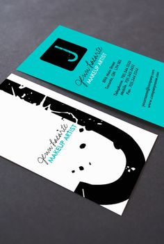 Fully customizable monogram business cards designed by Colourful Designs Inc.