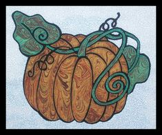Quilted wall hanging pattern - Pumpkin - includes 8 sizes - $10