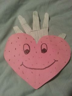 Fruit of the Spirit Love (Strawberry)  Have kids cut out a heart and trace their hand for thr stem. Have them write things they love on the back