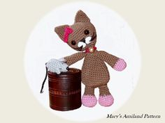 Cat and Mouse the Amis  Amigurumi crochet pattern  by MarysAmiland, €2.80