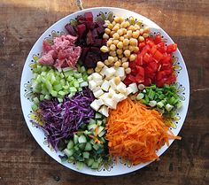 jump on the salad party bandwagon: chopped salad platter | Everybody Likes Sandwiches