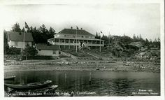 Østfold fylke Hvaler kommune Skjærhalden Andersen Badehotel indehaver A. Corneliussen  Utg Carl Normann 1920