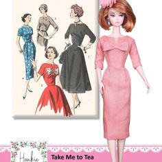 Just published another vintage inspired sewing pattern for fashion dolls . check it out! Barbie Sewing Patterns, Costume Patterns, Doll Clothes Patterns, Vintage Barbie Clothes, Vintage Sewing, Barbie And Ken, Barbie Dolls, Pattern Pictures, Fashion Dolls