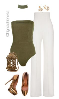 Untitled #2575 by highfashionfiles on Polyvore featuring polyvore fashion style Yves Saint Laurent Boohoo clothing
