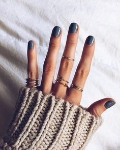 Love it all. Nail shape. Color. Rings.