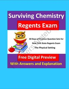 FREE Surviving Chemistry Regents Exam: Questions for Exam Practice (Free) product from E3Chemistry on TeachersNotebook.com